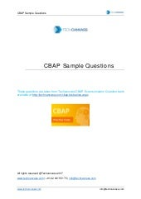 CBAP Certification Basics