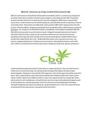 Canada Hemp Oil Cancer Cure