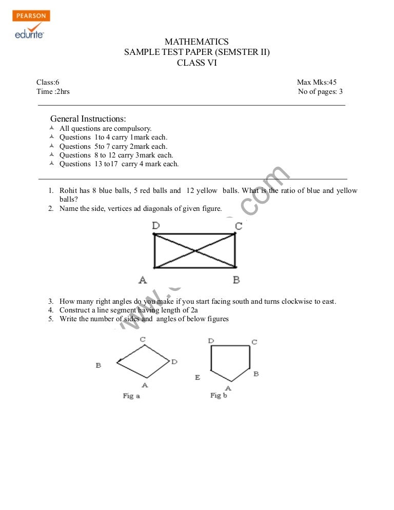 Maths question paper for class 6 cbse sa1 paralegal resume entry level sample