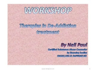 Therapies in De-Addiction Treatment