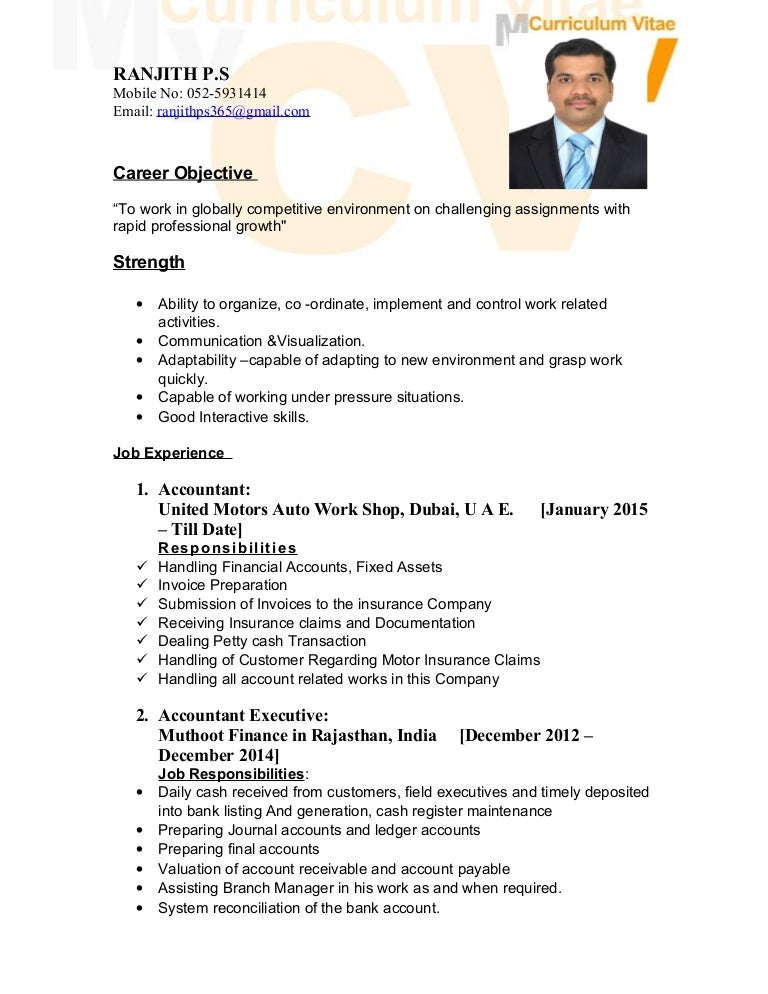 Biodata Of Mr Ranjith Ps