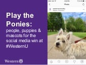 Play the ponies: People, puppies & mascots for the Social Media win at #WesternU
