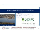 The Role of Digital Strategy in External Portfolios