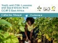 Youth and CSA: Lessons and Experiences from CCAFS East Africa