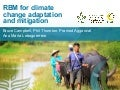 Results-based management for climate change adaptation and mitigation