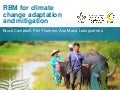 RBM for climate change adaptation and mitigation