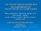 the primary impacts of proposition 218 in california The impacts of the california beverage container recycling and litter reduction act on consumers  by the end of 1983, nine states had passed mandatory beverage.