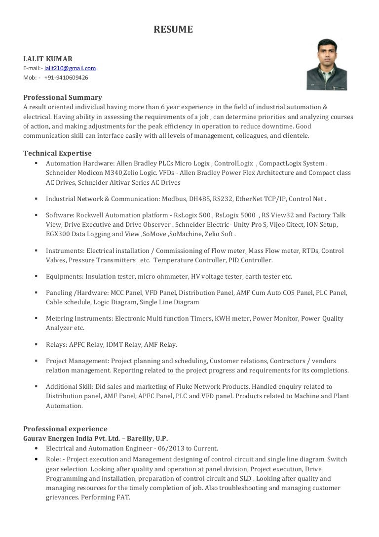 Resume Lalit Kumar Zelio Plc Wiring Diagram