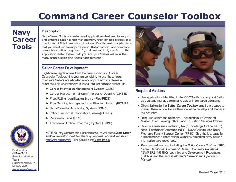 Ccc Tool Box Navy Counselor Procedures