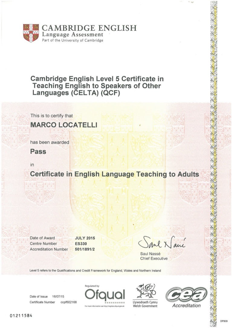 Celta certificate 1betcityfo Images