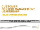 Customer Centric Management Leadership by Buljan and Partners Consulting