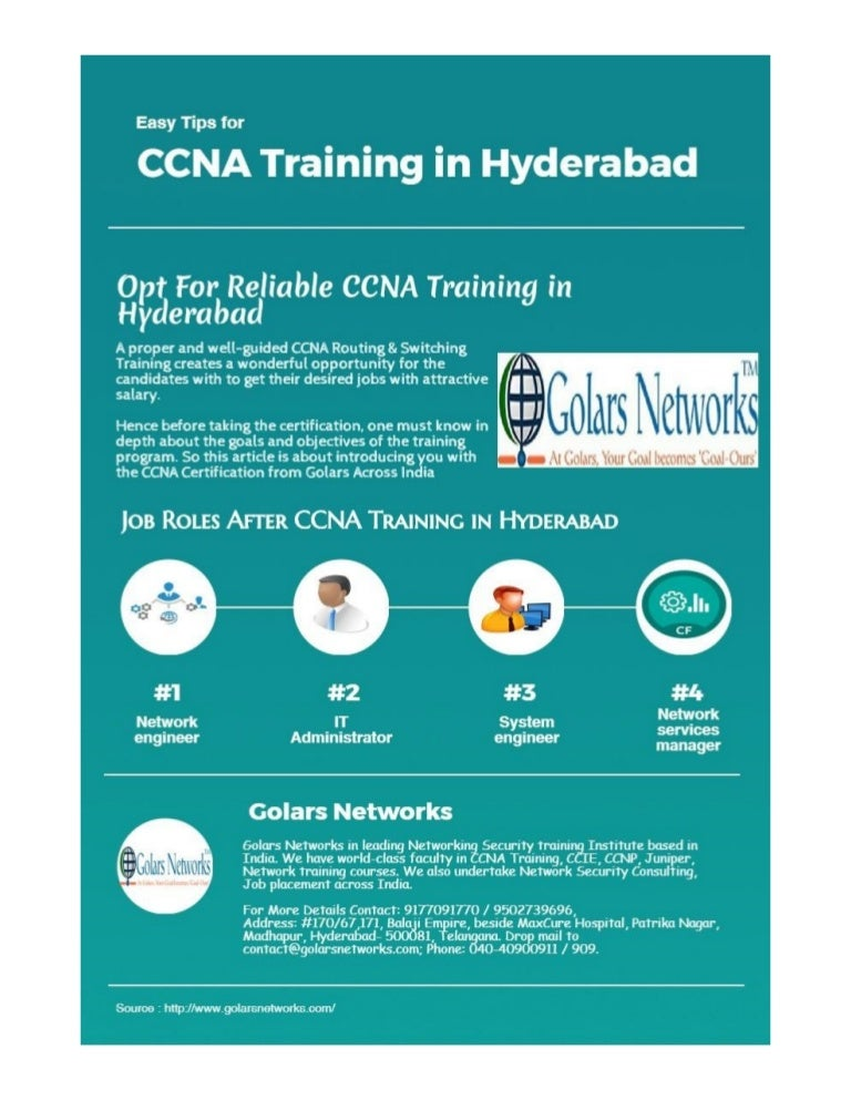 CCNA Training in Hyderabad | Golars Networks