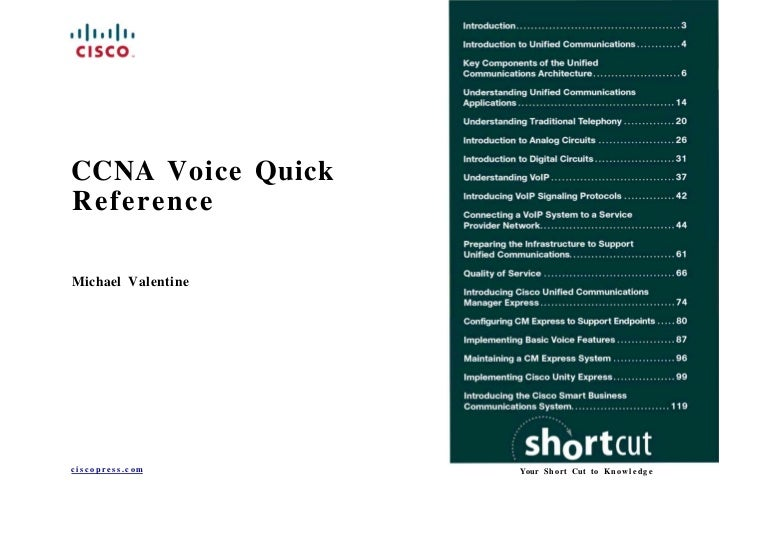 Ccna Voice Quick Refence Sheet