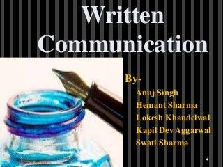 Written communication training