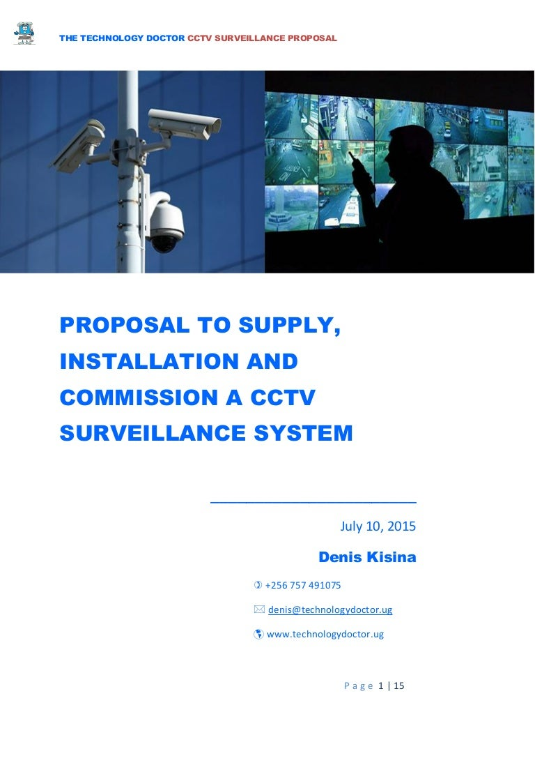 Proposal To Supply Installation And Testing Of Cctv Camera