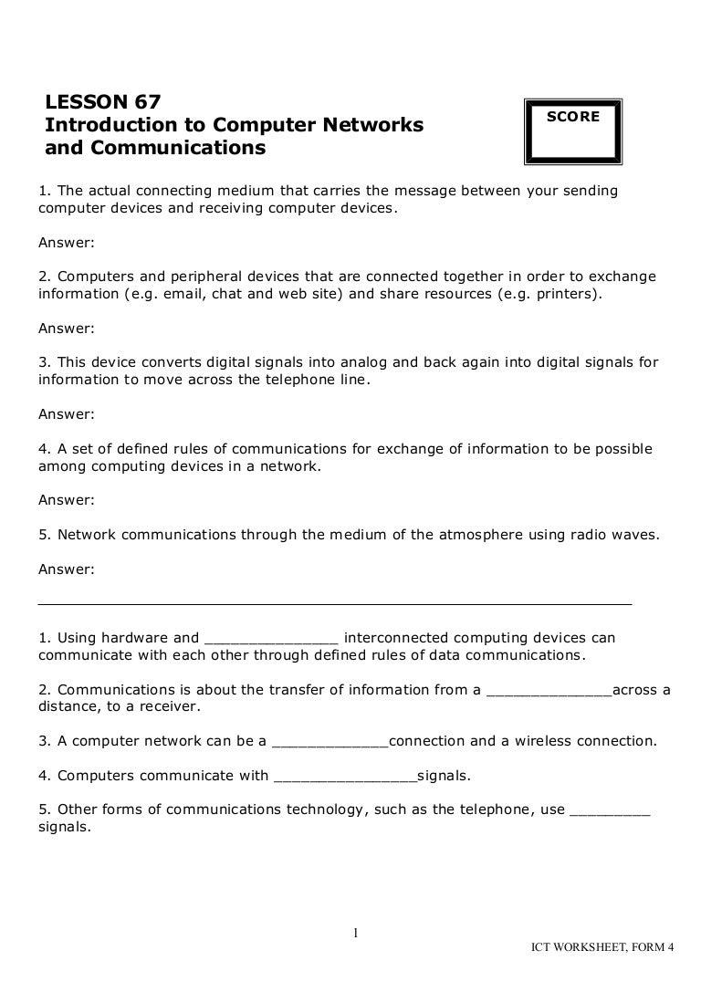 Cd Ict Worksheet La3 Form 4