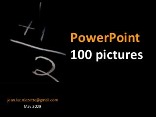 PowerPoint Tutorial Presentation - 100 Pictures