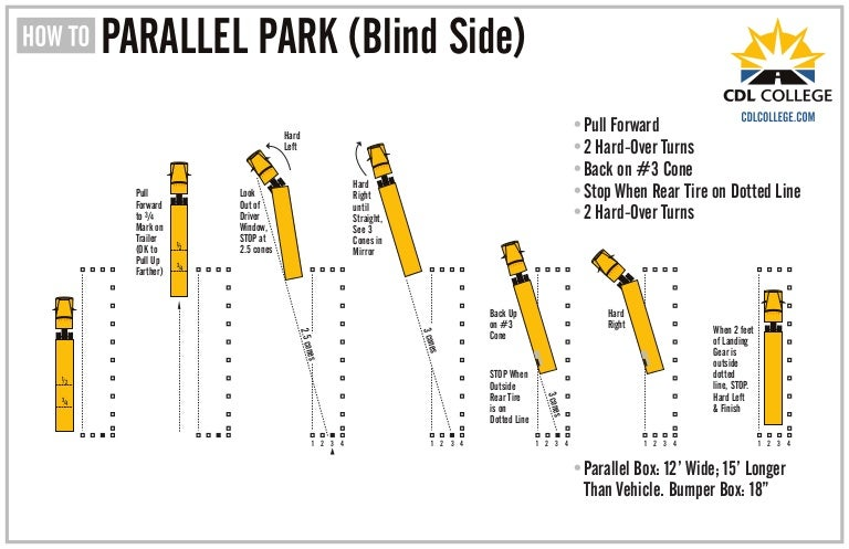 CDL College Truck Driving School Inforgraphic Parallel Parking Blind …