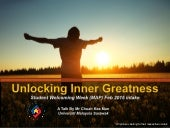 Unlocking Your Inner Greatness: A Talk for Students