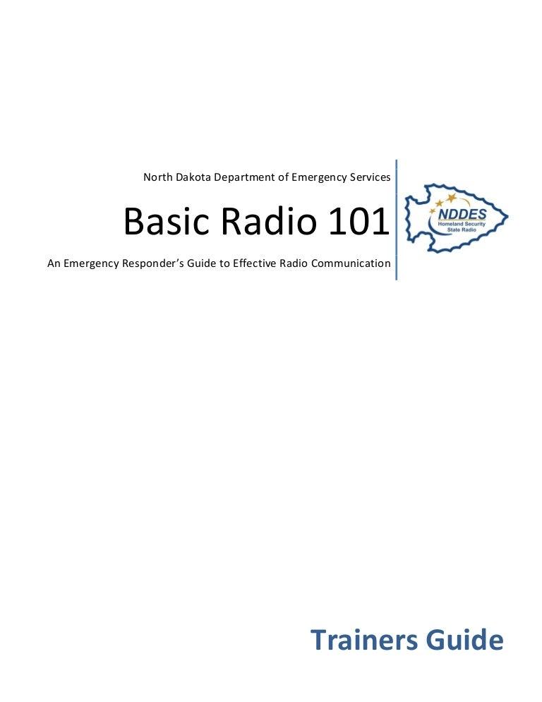 Basic Radio 101 Trainers Guide