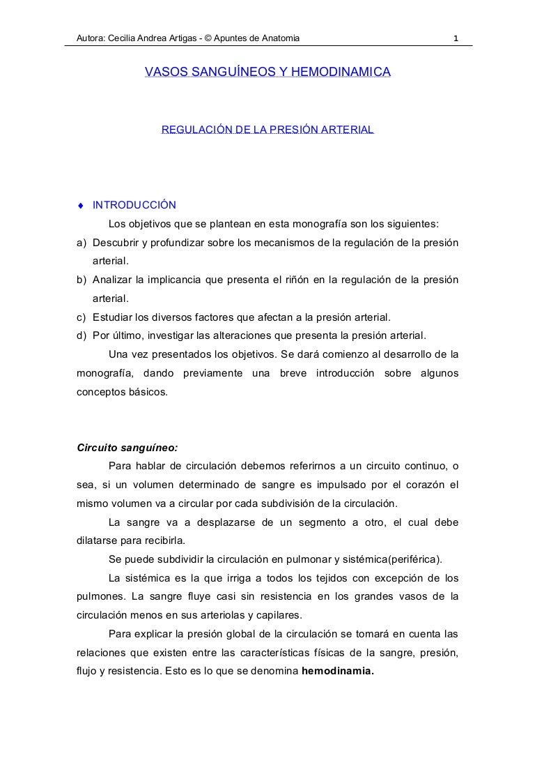 Circuito Sanguineo : Hemodinamia