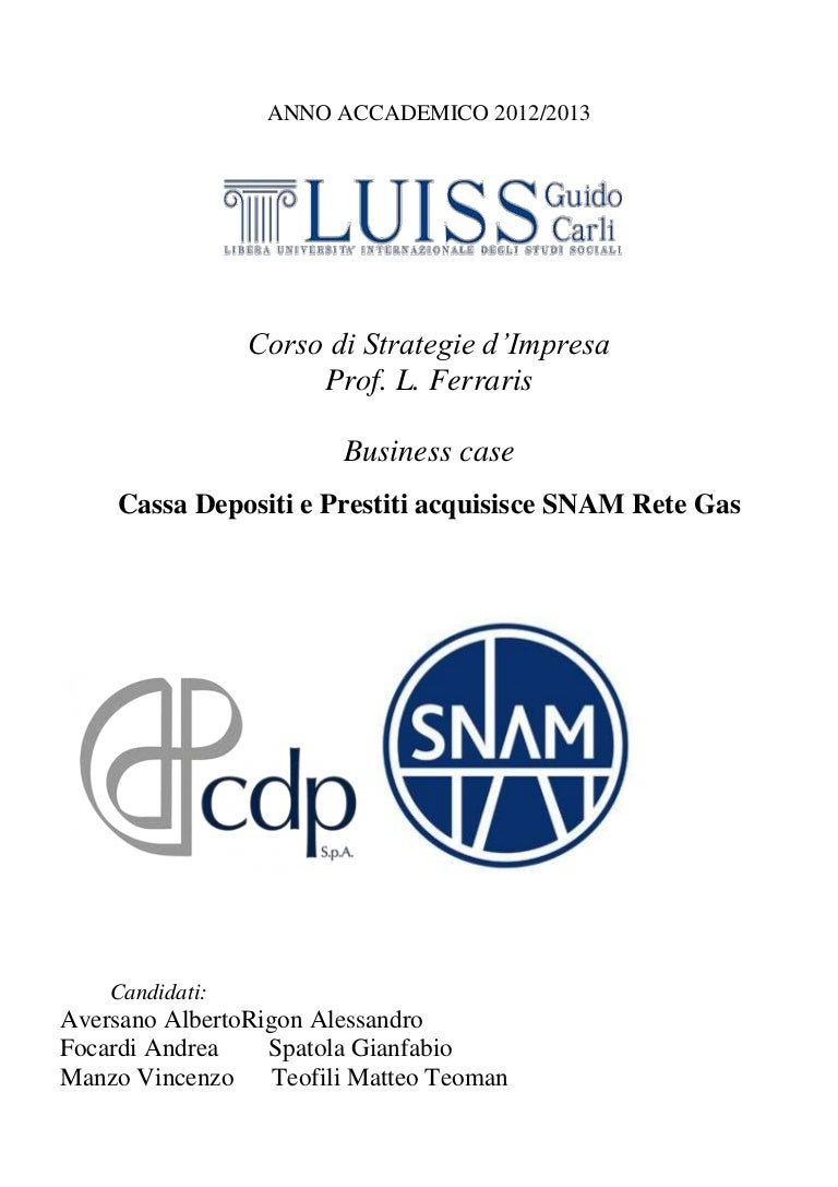 7054dc3cfd CDP-Snam acquisition process