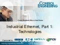 Industrial Ethernet, Part 1: Technologies