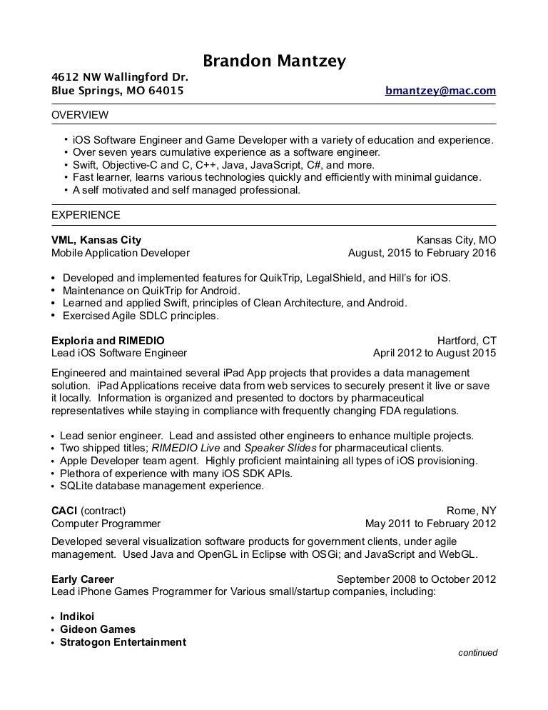 early career resume