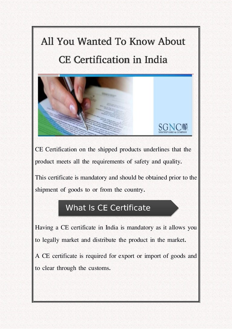 All you wanted to know about ce certification in india 1betcityfo Choice Image