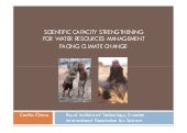 SCIENTIFIC CAPACITY STRENGTHENING FOR WATER RESOURCES MANAGEMENT FACING CLIMATE CHANGE