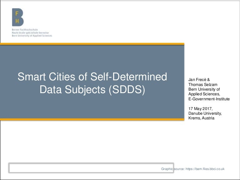 CeDEM2017 Smart Cities of Self-Determined Data Subjects