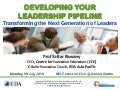 CEE Executive Briefing on Developing Your Leadership Pipeline - 29 July 2013