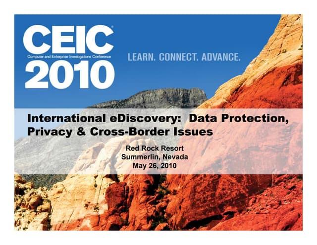 CEIC 2010 international panel