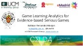Celda 2019 game learning analytics for evidence based serious games final