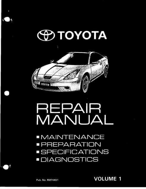 toyota celica repair manual 1990 2005 rh slideshare net 1989 Toyota Celica 1990 toyota celica repair manual free