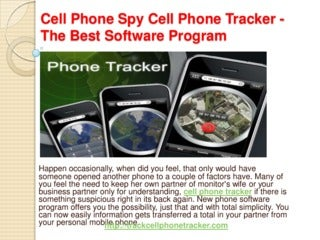 Cell phone spy cell phone tracker the best software program