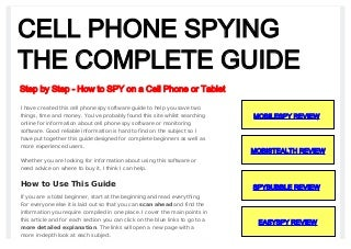 Cell phone spy software complete guide to cell phone spywarex
