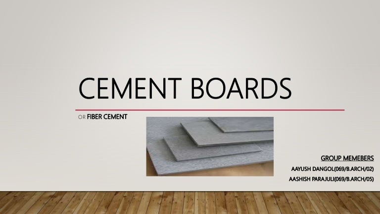 Cement Boards Or Fiber Cement
