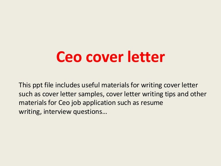 ceo cover letters