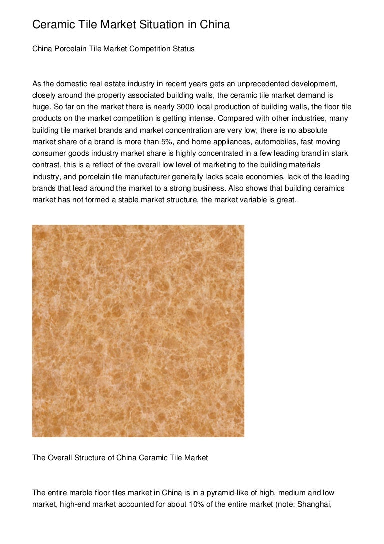 Ceramic tile market situation in china dailygadgetfo Choice Image