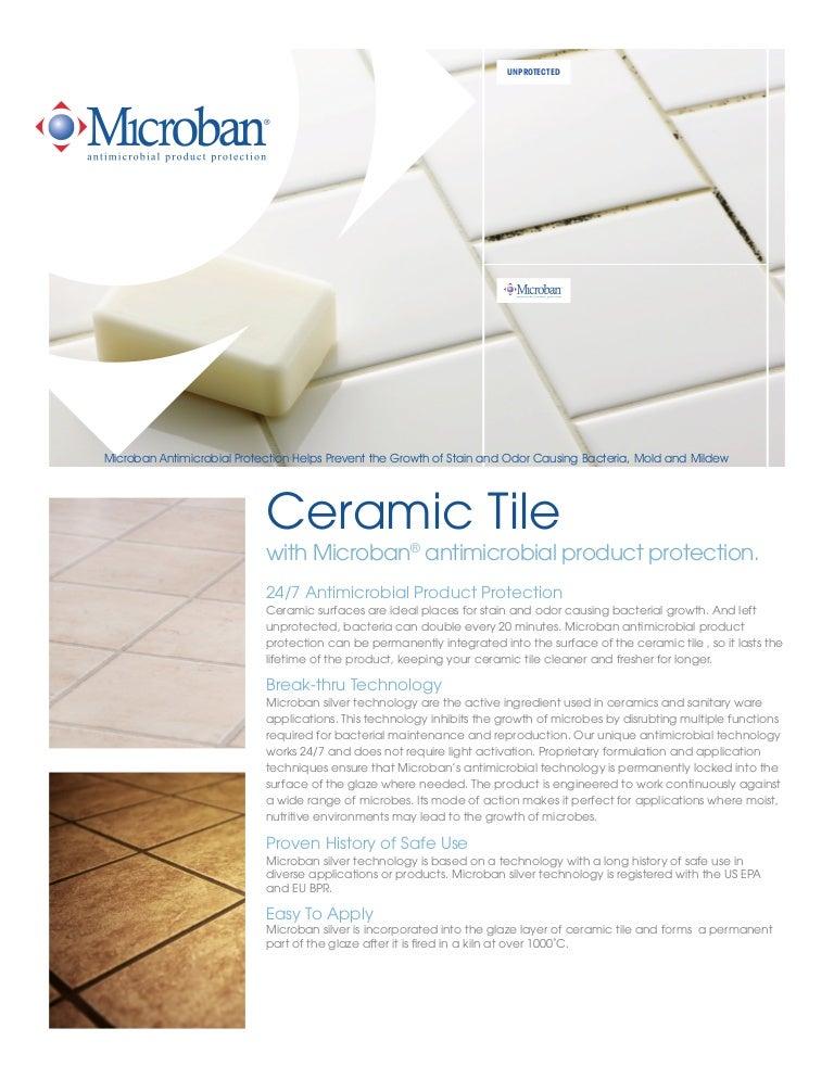 Microban Antimicrobial Ceramic Tile Technology Sheet