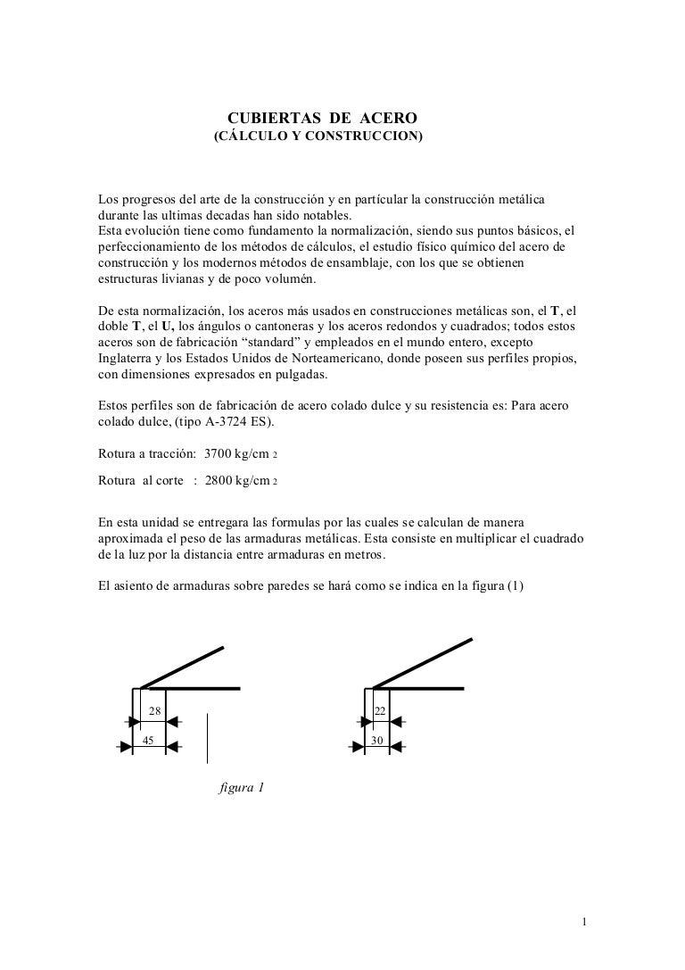Cerchas y cubiertas - Precio estructura metalica ...