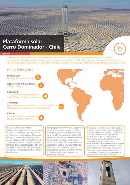 Plataforma solar Cerro Dominador - Chile