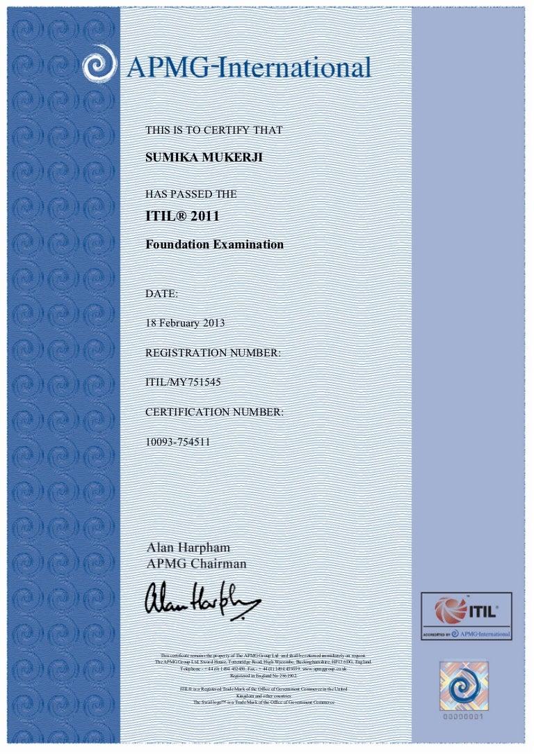 Itil foundation certificate xflitez Gallery