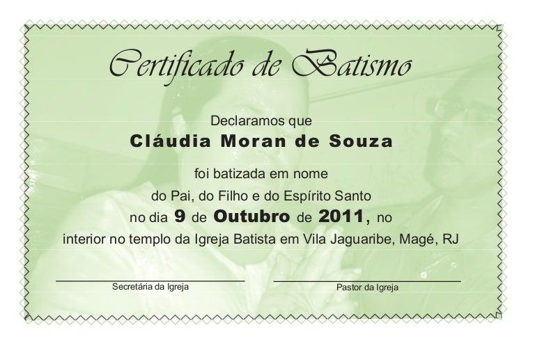 Certificado De Batismo3