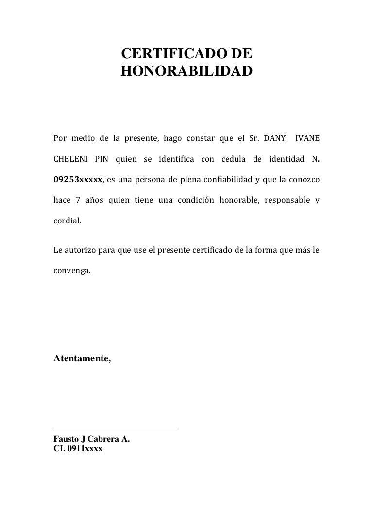 certificado de honorabilidad  1
