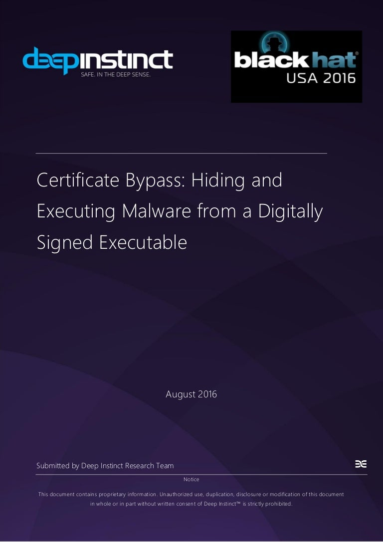 Certificate bypass hiding and executing malware from a digitally sig 1betcityfo Choice Image