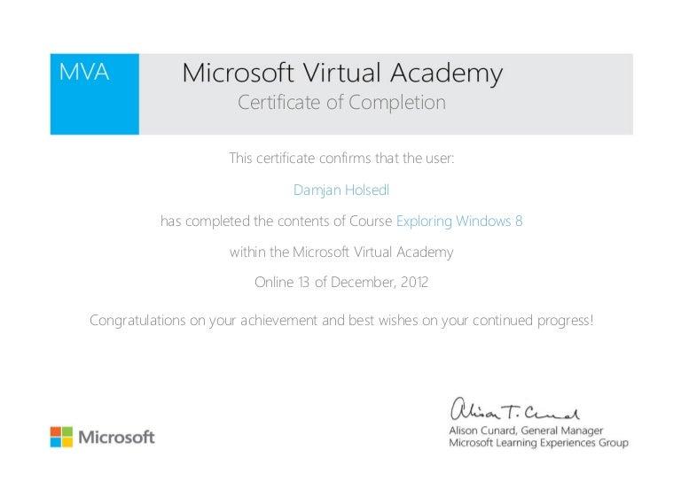 Mva Certificate
