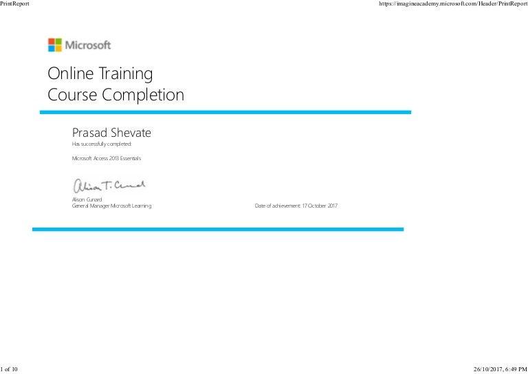 Microsoft Certificate Online Training