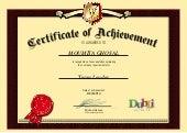 Certificate of Leadership from DUBLI